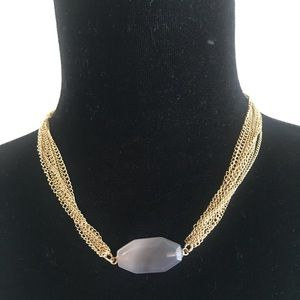 Melrose and market Necklace gold w a stone